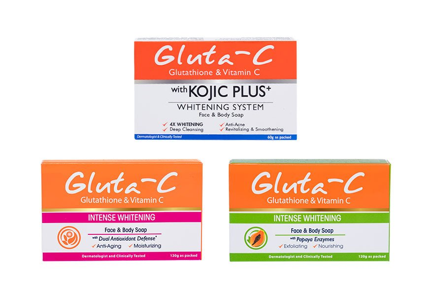 Gluta-C whitening soap products