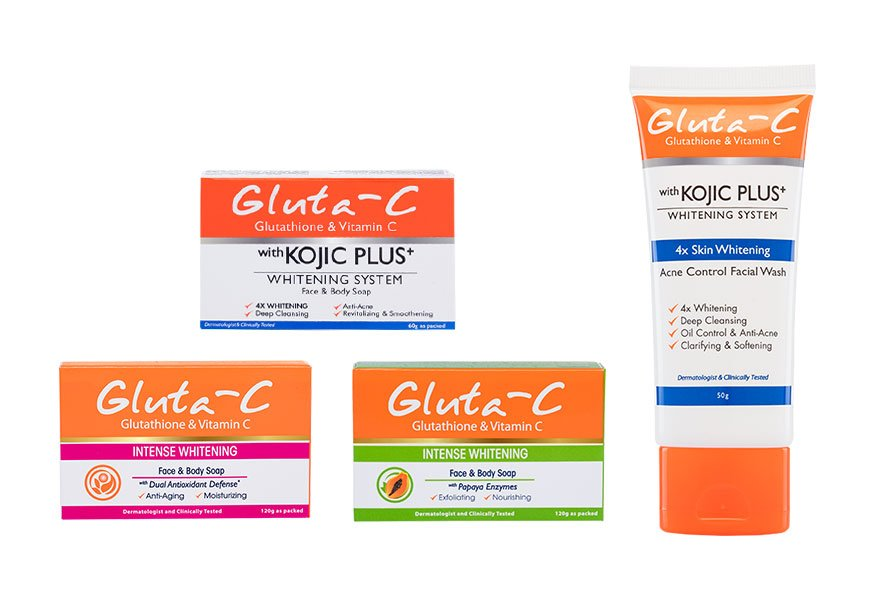 Gluta-c whitening face cleansers